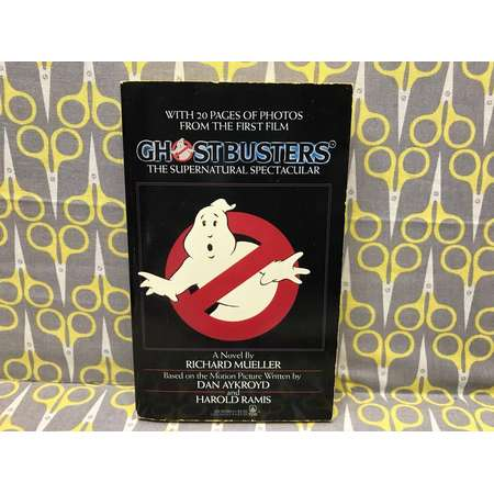 Ghostbusters by Richard Mueller Paperback Book the Supernatural Spectacular movie tie in novelization Vintage thumb