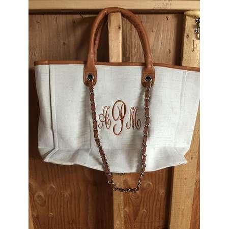 Monogrammed purse, Personalized coco tweed tan purse tote, handbag, pocket book, purse, bags, pocket book thumb