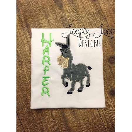 5dd88cb81 Shrek Inspired Donkey Monogrammed Birthday Shirt thumb