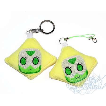 MADE TO ORDER- Peridot Soft Charm / Screen Cleaner Steven Universe thumb