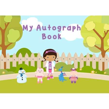 Disney Junior - Doc Mcstuffins - Disney Autograph Book - INSTANT - digital file download - Perfect for Disney park visits thumb