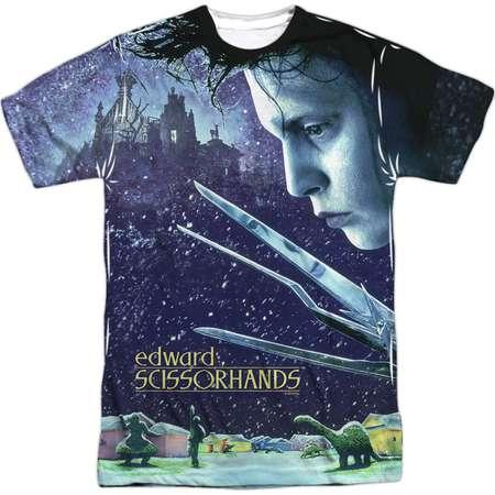 Edward Scissorhands Men's  Home Poster Sublimation T-shirt White thumb