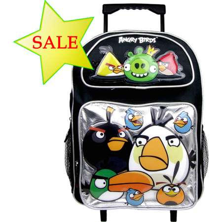 Angry Birds Large Rolling Backpack #AN10895-S thumb