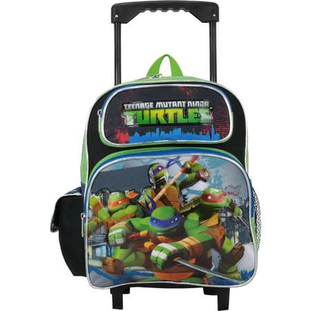 "Small Rolling Backpack - Teenage Mutant Ninja Turtles - 12"" Green TMNT 658755 thumb"