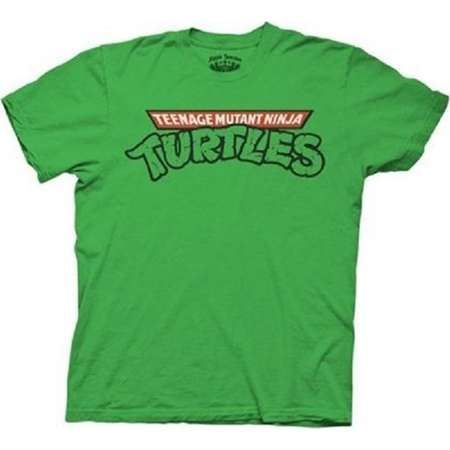 Mens Teenage Mutant Ninja Turtles Classic Logo Adult Green T-Shirt thumb