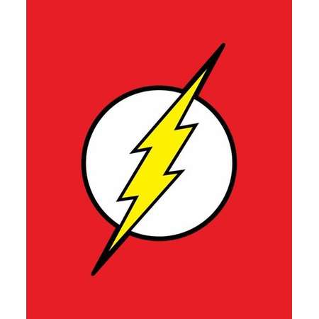 Crover DC Comics Justice League Superhero The Flash Lightning Logo Blanket thumb