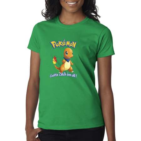 fb33e149 New Way 560 - Women's T-Shirt Pokemon Go Gotta Catch 'Em All Charmander
