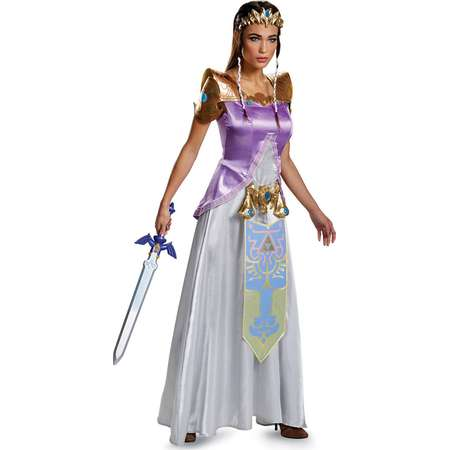 Legend of Zelda Princess Zelda Deluxe Women's Adult Halloween Costume thumb