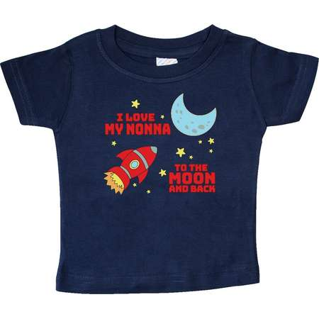 I Love My Nonna to the Moon and Back Baby T-Shirt thumb