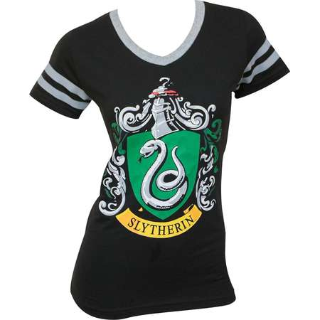 Harry Potter Slytherin Juniors V-Neck Tee Shirt thumb