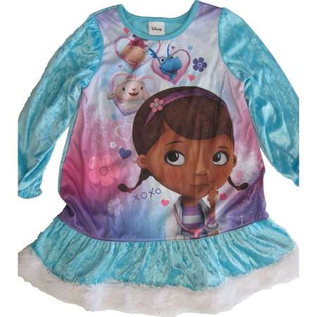 Little Girls Turquoise Doc McStuffins Image Printed Nightgown 4-6 thumb