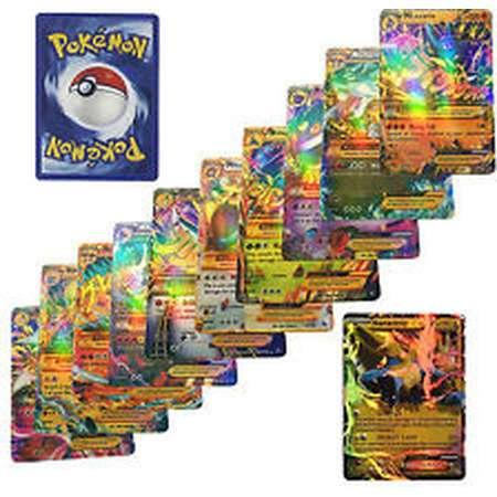 60 Pcs Pokemon EX Card All MEGA Holo Flash thumb