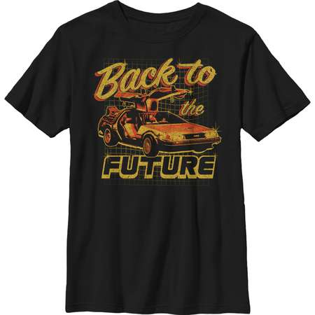 Back to the Future Boys' DeLorean Schematic Print T-Shirt thumb