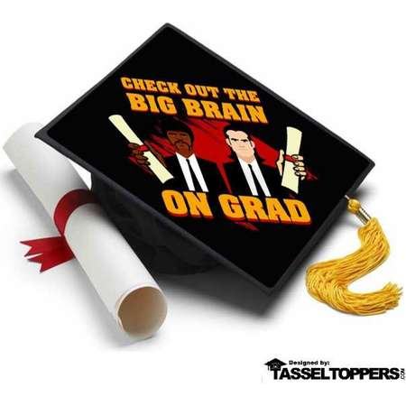 Pulp Fiction Grad Cap Tassel Topper - Graduation Cap Decorations, Grad Cap Decorating Kit thumb