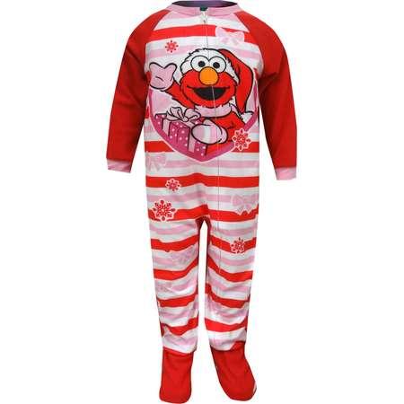 Sesame Street Elmo Christmas Blanket Sleeper Toddler Pajamas thumb