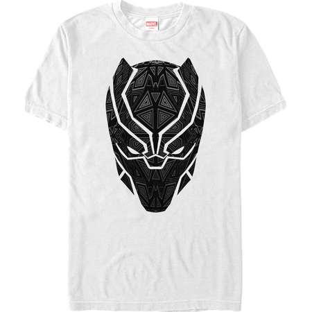 Marvel Men's Black Panther Ornate Mask T-Shirt thumb