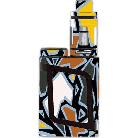 Skin Decal For Smok Al85 Alien Baby Kit Vape / Pop Art Stained Glass thumb