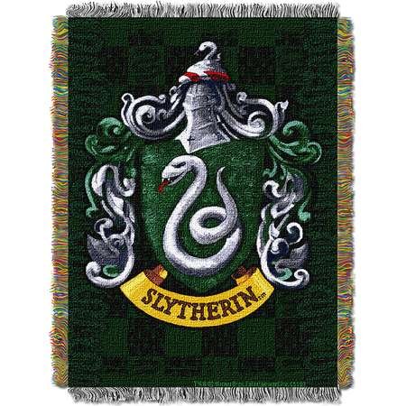 Harry Potter Slytherin Shield  Woven Tapestry Throw (48inx60in) thumb