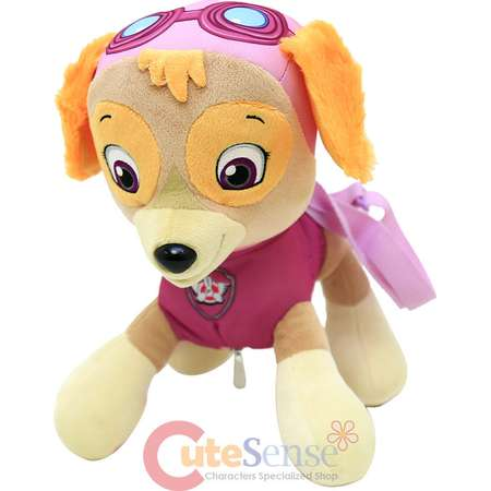 "Paw Patrol Skye Plush Doll Backpack 14"" Costume Bag Girls Dog Stuffed Toy thumb"
