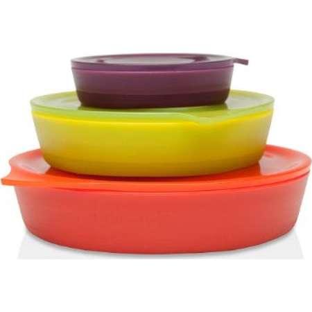 Aladdin 3 Collapsible Bowl Set | 4oz , 16oz , 32oz, Eggplant, Lettuce & Tomato thumb