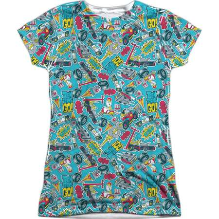 Teen Titans Go! Animated DC TV Show Vehicle Patterns Juniors Front Print T-Shirt thumb