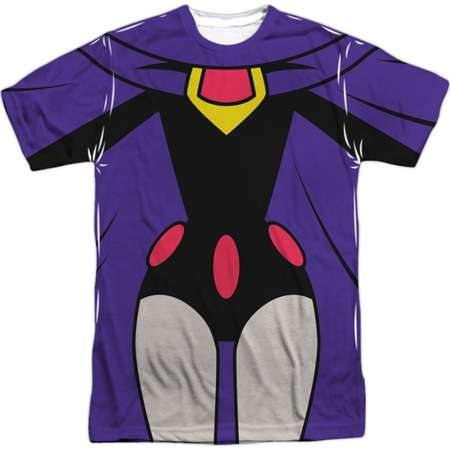 Teen Titans Go! Animated DC TV Series Raven Uniform Adult Front Print T-Shirt thumb