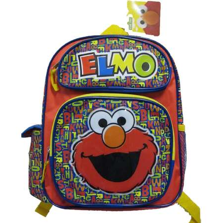 "Small Backpack - Sesame Street - Elmo 12"" School Bag New 097671 thumb"