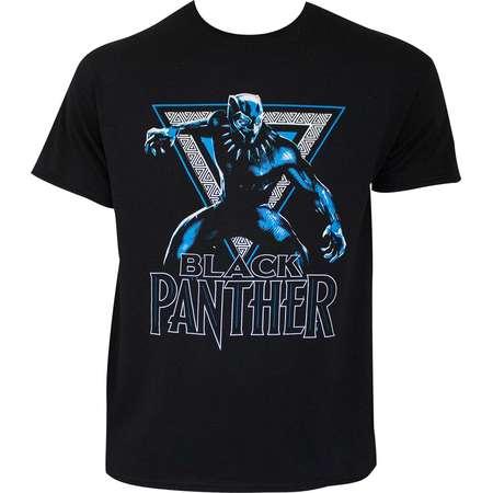 Black Panther Movie Triangle Marvel Black Adult T Shirt thumb