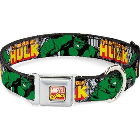 MARVEL COMICSDog Collar AVA-Marvel Comics - THE INCREDIBLE HULK Action Pet Collar thumb