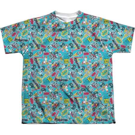 Teen Titans Go Men's  Pattern Sublimation T-shirt White thumb