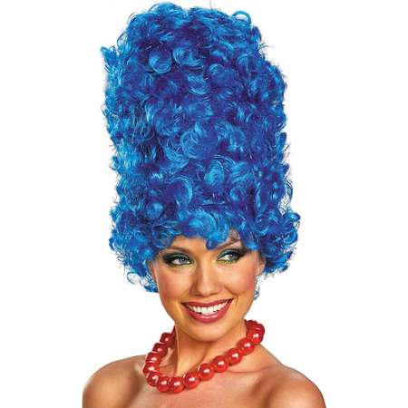 The Simpsons Marge Deluxe Glam Adult Wig Halloween Costume Accessory thumb