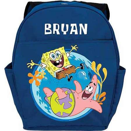 9deca248e2 Personalized SpongeBob SquarePants Friends Youth Blue Backpack thumb