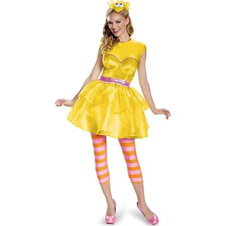 Sesame Street Big Bird Dress Women's Adult Halloween Costume thumb