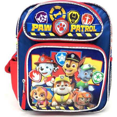 "Paw Patrol Team Players 12"" School Backpack Book Bag Licensed thumb"