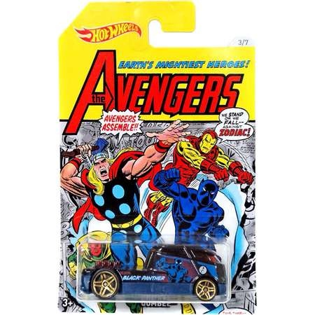 Hot Wheels The Avengers Qombee Die-Cast Car [Black Panther] thumb