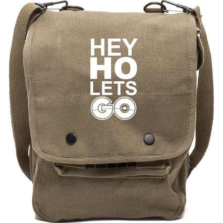 Hey Ho Lets Go Pokemon Go Plus Canvas Crossbody Travel Map Bag Case thumb