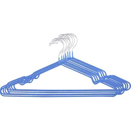 Unique Bargains Household Toggery Metal Clothes Towel Underwear Socks Hanger Hanging Blue 10 Pcs thumb