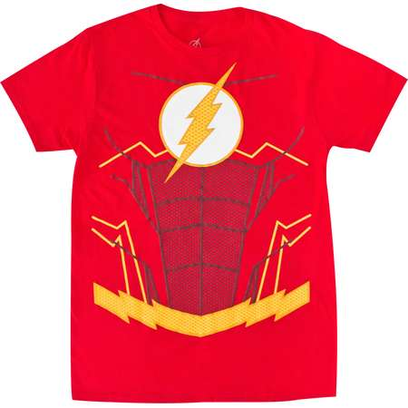 The Flash Suit Up Red Costume Tee Shirt thumb