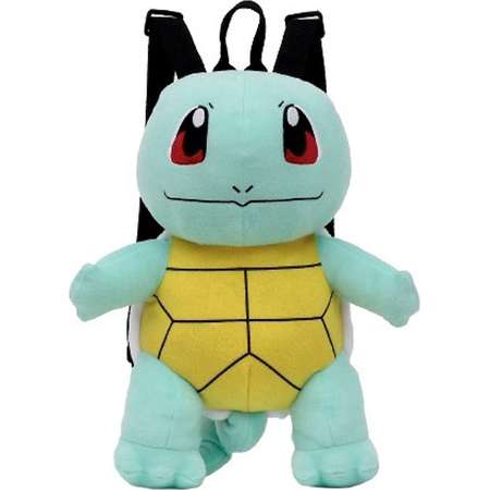 "Plush Backpack - Pokemon - Squirtle Green/Brown 15"" Soft Doll New 712157 thumb"
