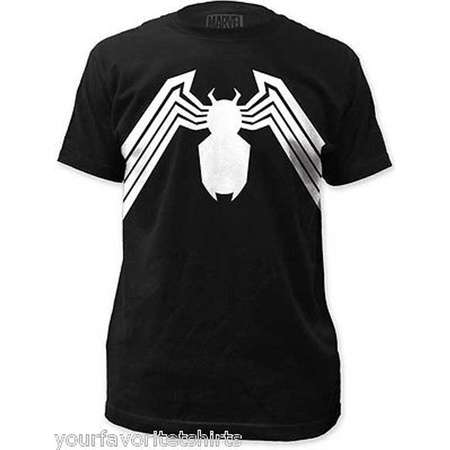Venom Suit Symbol Costume Spider-man Marvel Comics Adult T Shirt thumb