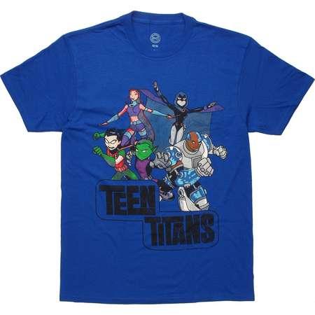 Teen Titans Action Group Vintage T-Shirt thumb