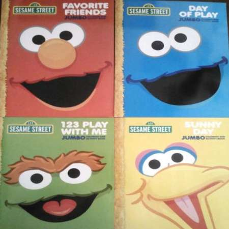 Sesame Street (Set of 4) Coloring and Activity Book thumb