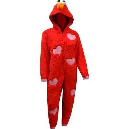 Sesame Street Elmo Plush One Piece Pajamas thumb
