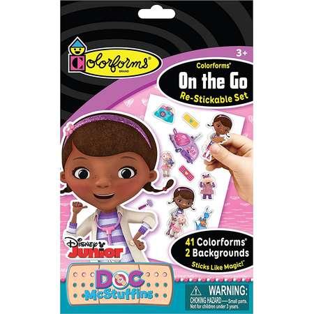 Colorforms Brand Doc McStuffins On The Go Restickable Set thumb