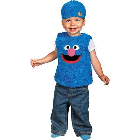 Sesame Street Infant Toddler Boy Girl Plush Blue Grover Costume with Hat thumb