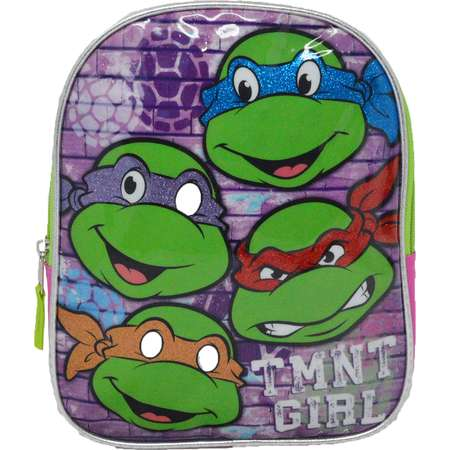 "Teenage Mutant Ninja Turtles TMNT Girl 10"" Mini Backpack Bag - Pink thumb"