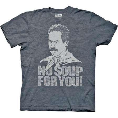 96eaf0c34d3e Seinfeld 3036XL Soup Nazi No Soup For You Blue Graphic T-Shirt