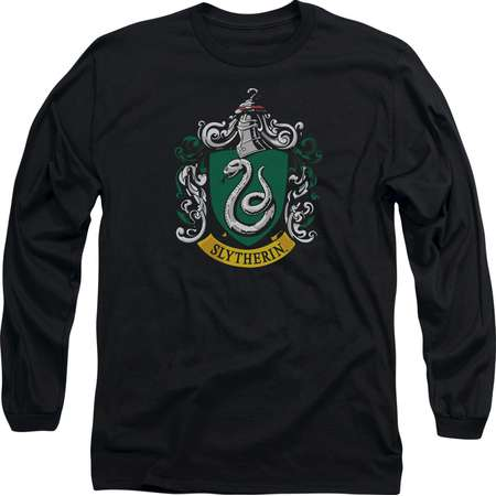 Harry Potter Slytherin Crest Mens Long Sleeve Shirt thumb