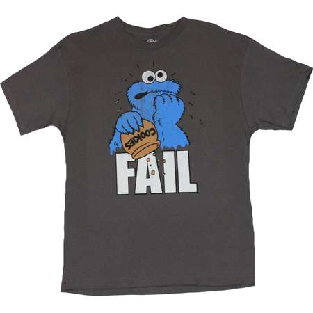 Sesame Street Mens T-Shirt  - Fail Distraught Cookie Monster Out of Snacks thumb
