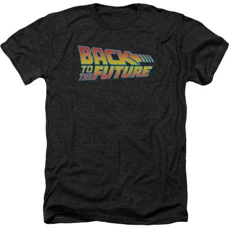 Back To The Future 80's Michael J Fox SciFi Movie Logo Adult Heather T-Shirt Tee thumb